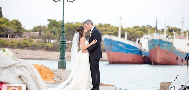 Omer & Jennifer , a romantic wedding by the sea in Spetses island